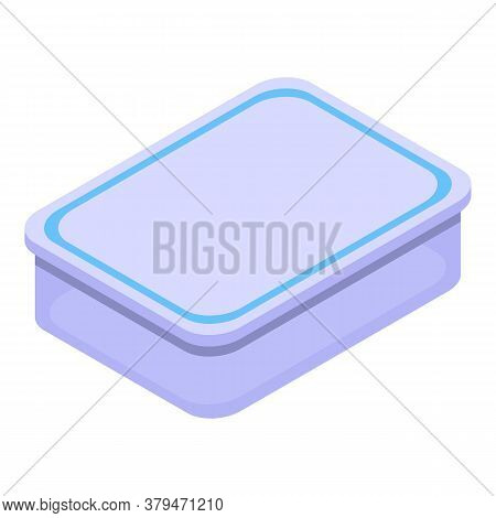 Kitchen Food Container Icon. Isometric Of Kitchen Food Container Vector Icon For Web Design Isolated