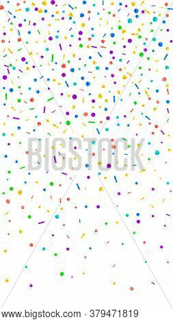 Festive Delicate Confetti. Celebration Stars. Festive Confetti On White Background. Ideal Festive Ov