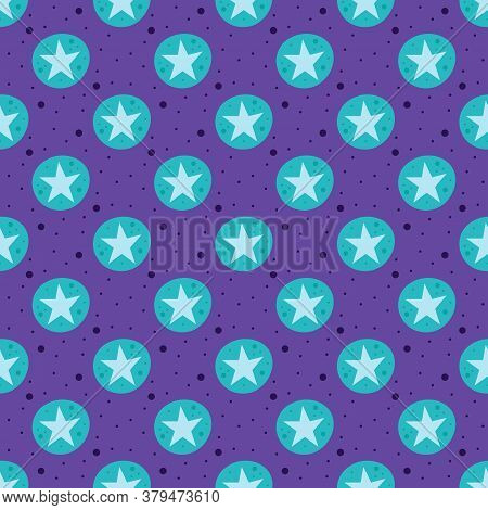 Stars. Space, Night Sky Vector Flat Seamless Pattern, Background. Galaxy, Science. Futuristic. Cosmo