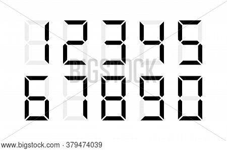 A Set Of All Digital Numbers For Compiling A Computer Number.  Illustration