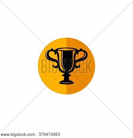 Trophy Icon Vector With Colored Circle Isolated On White Background. Trophy Icon Trendy And Modern T
