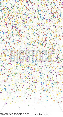 Festive Flawless Confetti. Celebration Stars. Colorful Confetti On White Background. Grand Festive O