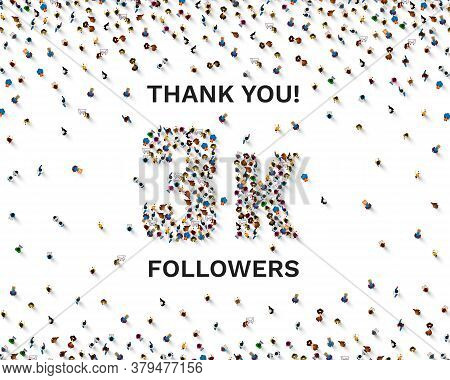 Thank You Followers Peoples, 3k Online Social Group, Happy Banner Celebrate, Vector