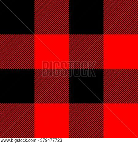 Tartan Plaid. Scottish Pattern In Black And Red Cage. Scottish Cage. Traditional Scottish Checkered