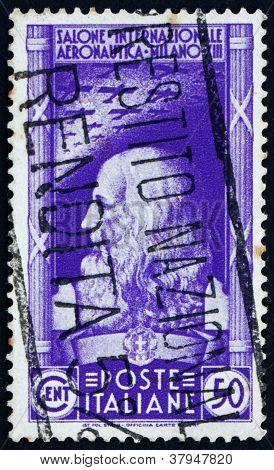 Postage stamp Italy 1935 Leonardo daVinci