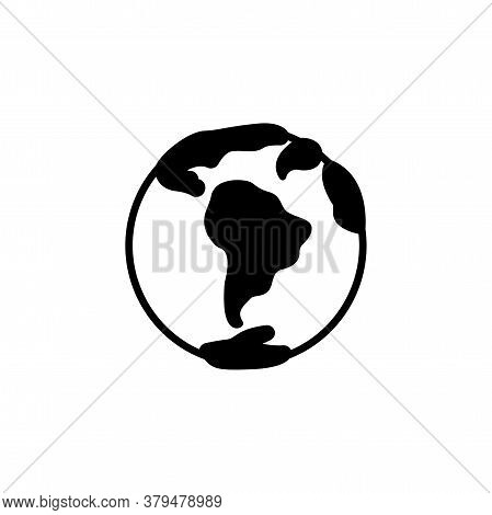 Planet Earth Icon Vector. Planet Earth Simple
