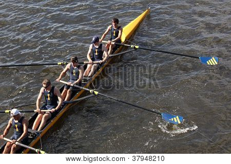 BOSTON - OCTOBER 21: St Ignatius High School races in the Head of Charles Regatta, Marin Rowing Asso