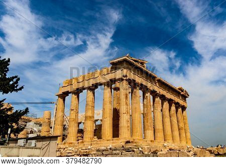 Parthenon - The Main Temple Of The Acropolis Of Athens