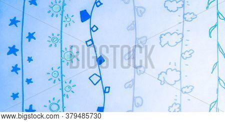 Distress Line Pattern. Strokes Sky Dirty Art. Background Distress Line Pattern. Repeat Childish Thin
