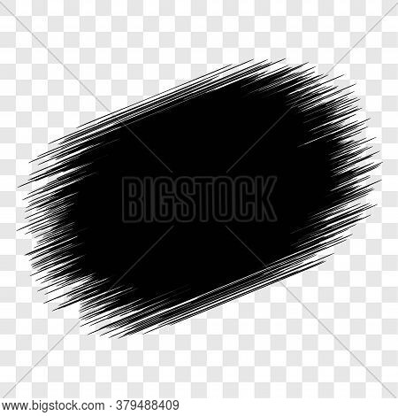 Grunge Paint Brush Blob Backdrop Abstract Or Chalk Crayon Dirty Background Splash Vector Element Des
