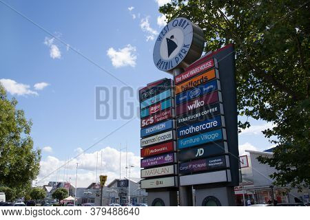 A Sign Showing The Shops At West Quay Retail Park In Southampton In The Uk, Taken On The 10th July 2