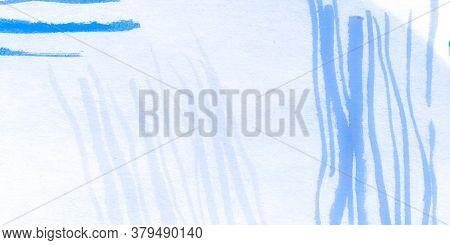 Distress Line Pattern. Wave Indigo Curly Art. Background Distress Line Pattern. Cartoon Nature Wavy