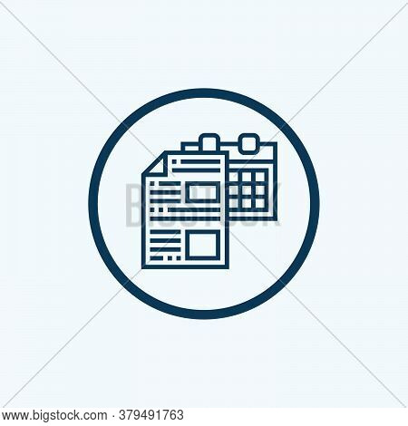 Deadline Icon Isolated On White Background From Work From Home Collection. Deadline Icon Trendy And