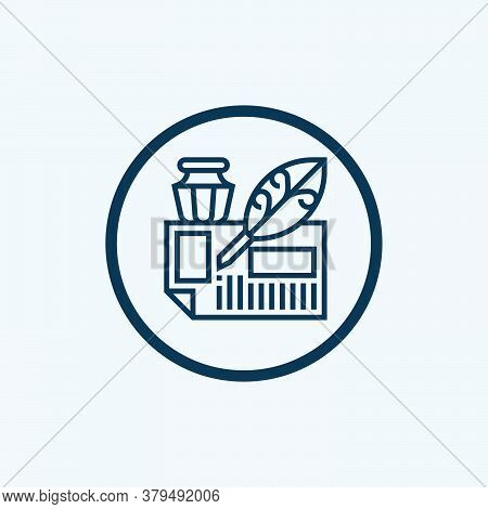 Write Icon Isolated On White Background From Stay At Home Collection. Write Icon Trendy And Modern W