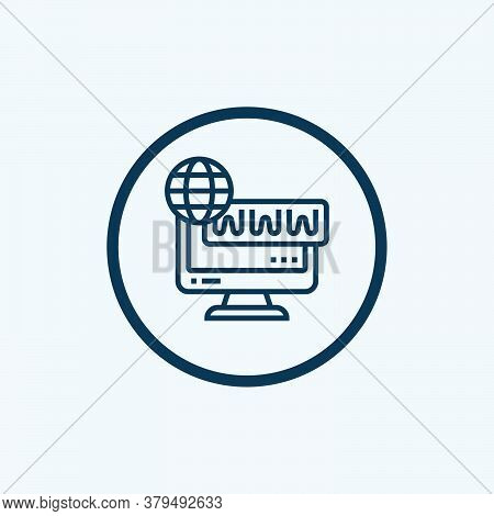 Internet Icon Isolated On White Background From Work From Home Collection. Internet Icon Trendy And