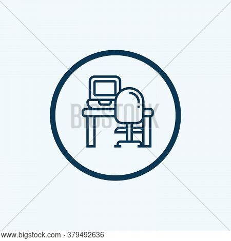 Workplace Icon Isolated On White Background From Digital Transformation Collection. Workplace Icon T