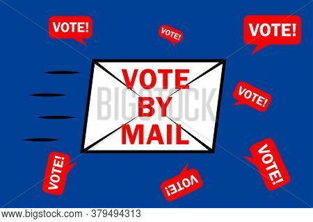 Vote By Mail Campaign Banner For The 2020 Presidential Election In America During The Covid-19 Pande