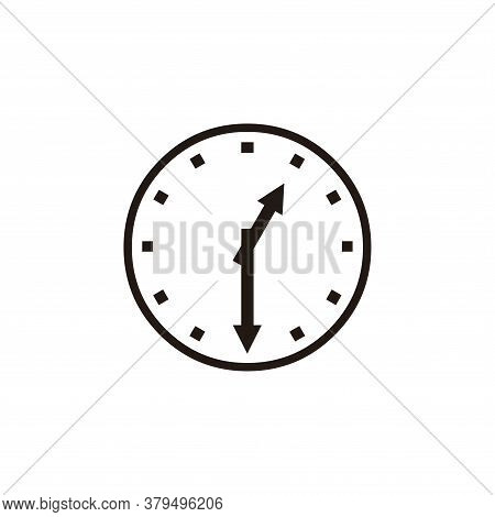 Wall Clock Icon Vector. Clock Icon Isolated On White Backgroud. Wall Clock Icon Simple And Modern