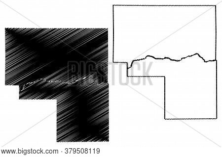 Cass County, Indiana (u.s. County, United States Of America, Usa, U.s., Us) Map Vector Illustration,