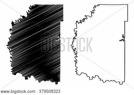 Daviess County, Indiana (u.s. County, United States Of America, Usa, U.s., Us) Map Vector Illustrati