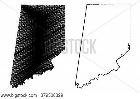 Dearborn County, Indiana (u.s. County, United States Of America, Usa, U.s., Us) Map Vector Illustrat