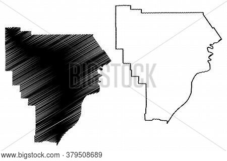 Floyd County, Indiana (u.s. County, United States Of America, Usa, U.s., Us) Map Vector Illustration