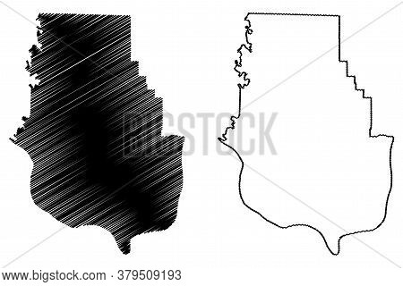Harrison County, Indiana (u.s. County, United States Of America, Usa, U.s., Us) Map Vector Illustrat