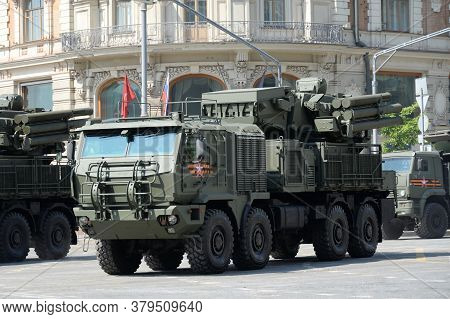 Moscow, Russia - June 20, 2020:anti-aircraft Missile And Gun Complex