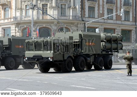 Moscow, Russia - June 20, 2020:self-propelled Launcher Of The Bal Coastal Missile System On A Moscow