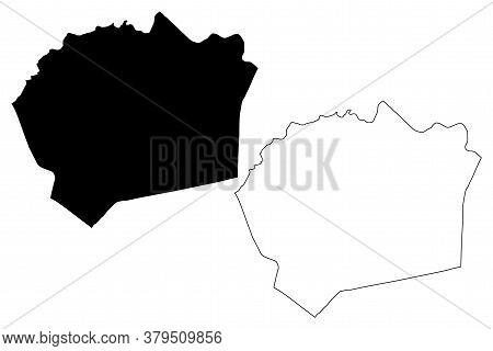 Belford Roxo City And Municipality (federative Republic Of Brazil, Rio De Janeiro State) Map Vector