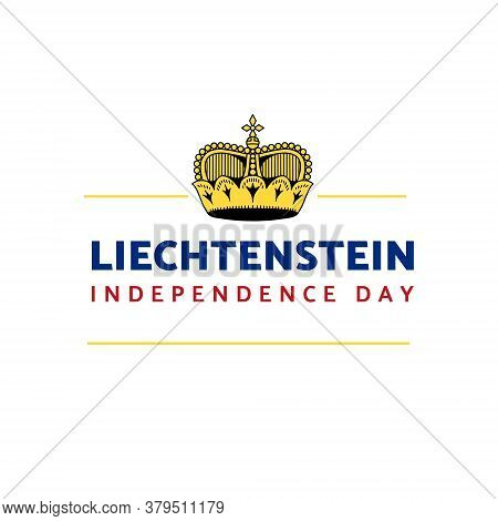 Vector Illustration On The Theme Of Liechtenstein Independence Day On August 19. Decorated With A In