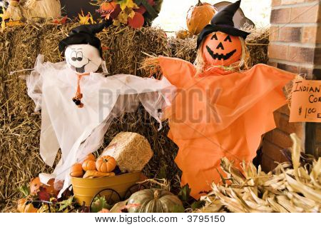 Ghosts And Pumpkin Decoration