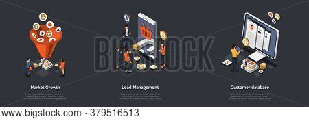 Concept Of Business Management And Market Growth. Lead Management With Business Creative Team Analys