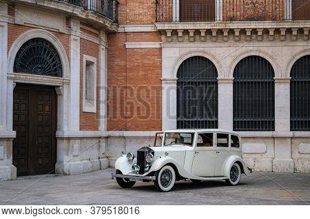 Valencia, Spain - June 3, 2017: Rolls-royce 25-30 From 1930s On Street