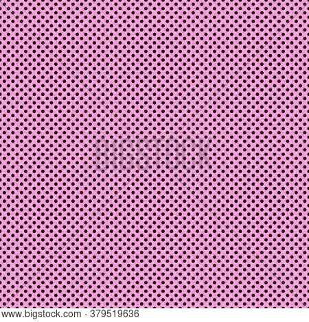 This 12x12 Scrapbooking Paper Or Background Is Tiny Brown Polka Dots On A Textured Light Pink Square
