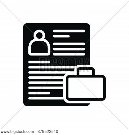 Black Solid Icon For Portfolio Resume Summary Reoccupy Detail Expansion Elaboration Document Photo