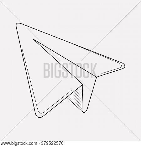 Triangle Cursor Icon Line Element. Vector Illustration Of Triangle Cursor Icon Line Isolated On Clea