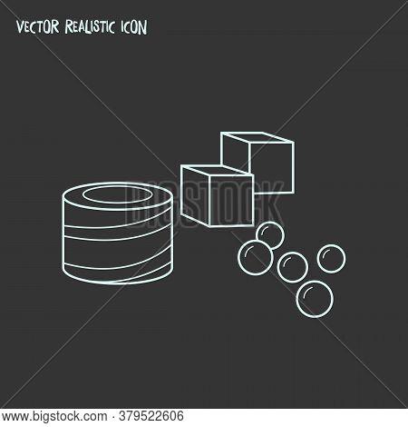 Turkish Delight Icon Line Element. Vector Illustration Of Turkish Delight Icon Line Isolated On Clea