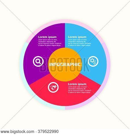 The Infographic Vector Design Template For Illustration. Planning Design Presentation Business Infog