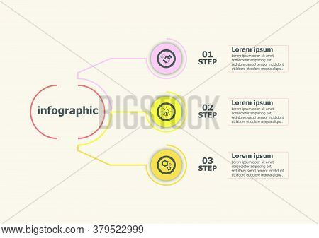 The Infographic Vector Design Template For Illustration. Planning Timeline Infographics Design Vecto