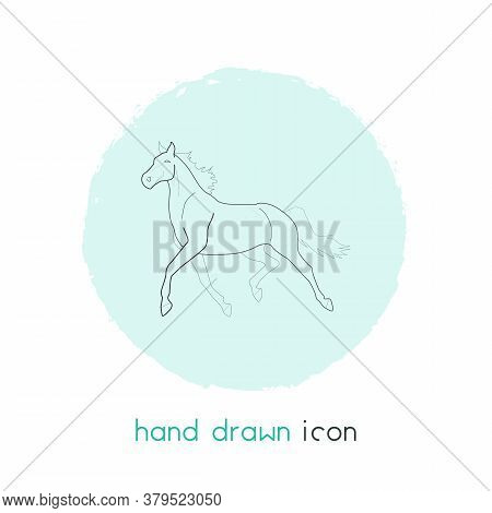 Horse Icon Line Element. Vector Illustration Of Horse Icon Line Isolated On Clean Background For You