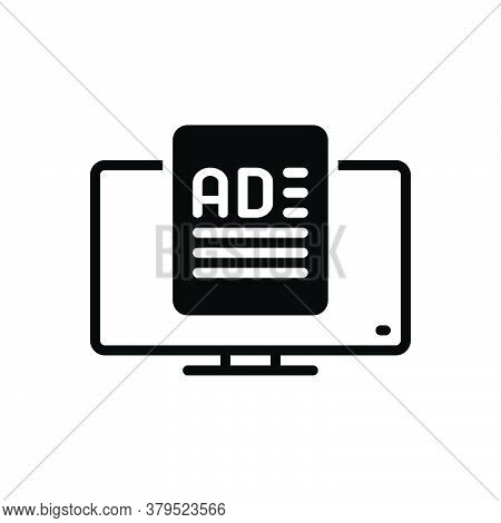 Black Solid Icon For Ad-media Ad Media Application-ad Application Ad Function Advertisement Reclame