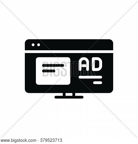 Black Solid Icon For Application-ad Application Ad Function Advertisement Reclame Online