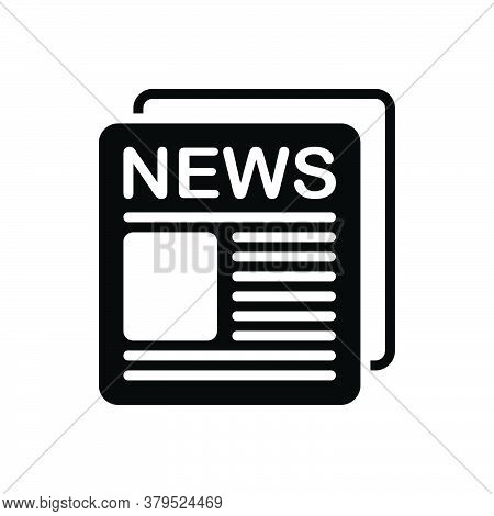Black Solid Icon For News-ad News Ad Broadcast Advertisement Massage Advertising News-paper
