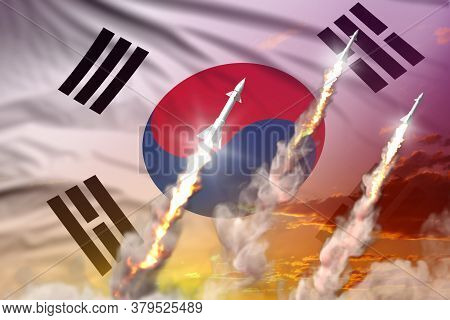 Republic Of Korea (south Korea) Ballistic Missile Launch - Modern Strategic Nuclear Rocket Weapons C