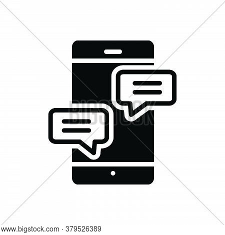Black Solid Icon For Chat Conversation Gossip Prattle Converse Bubble Discussion Conversation Dialog