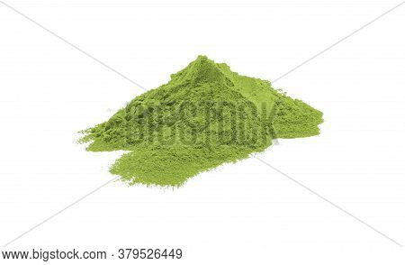 A Lot Of Matcha Green Tea Texture On White Background