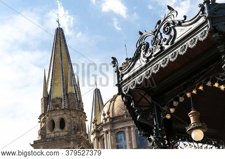 Metropolitan Cathedral.. Architecture And Monuments Of The City Of Guadalajara, Jalisco, Mexico. Day