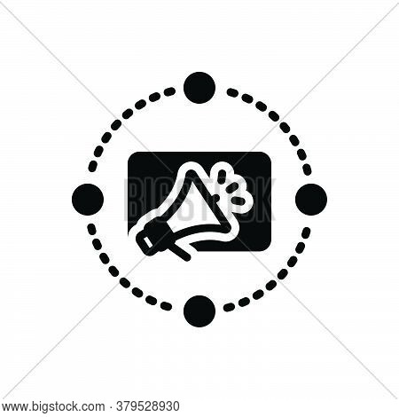 Black Solid Icon For Marketing-advertising Marketing Advertising Reclame Blurb Digital Megaphone Adv