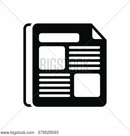 Black Solid Icon For Newspaper-ads Newspaper Ads News  Broadcast Advertisement Massage Advertising